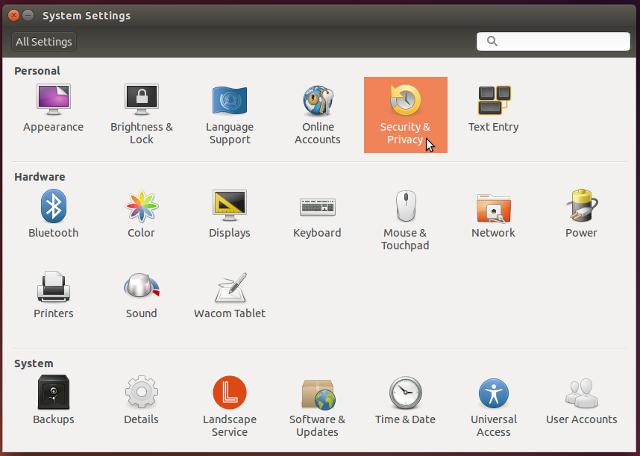 Ubuntu System Settings